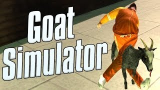 Goat Simulator Funny Moments - Parkour! New Map! Goat Riding!
