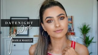DATE NIGHT GET READY WITH ME| MAKEUP & HAIR| Preet Aujla
