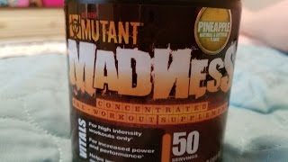 REVIEW: Mutant Madness Concentrated Pre-Workout Supplement, Pineapple flavor