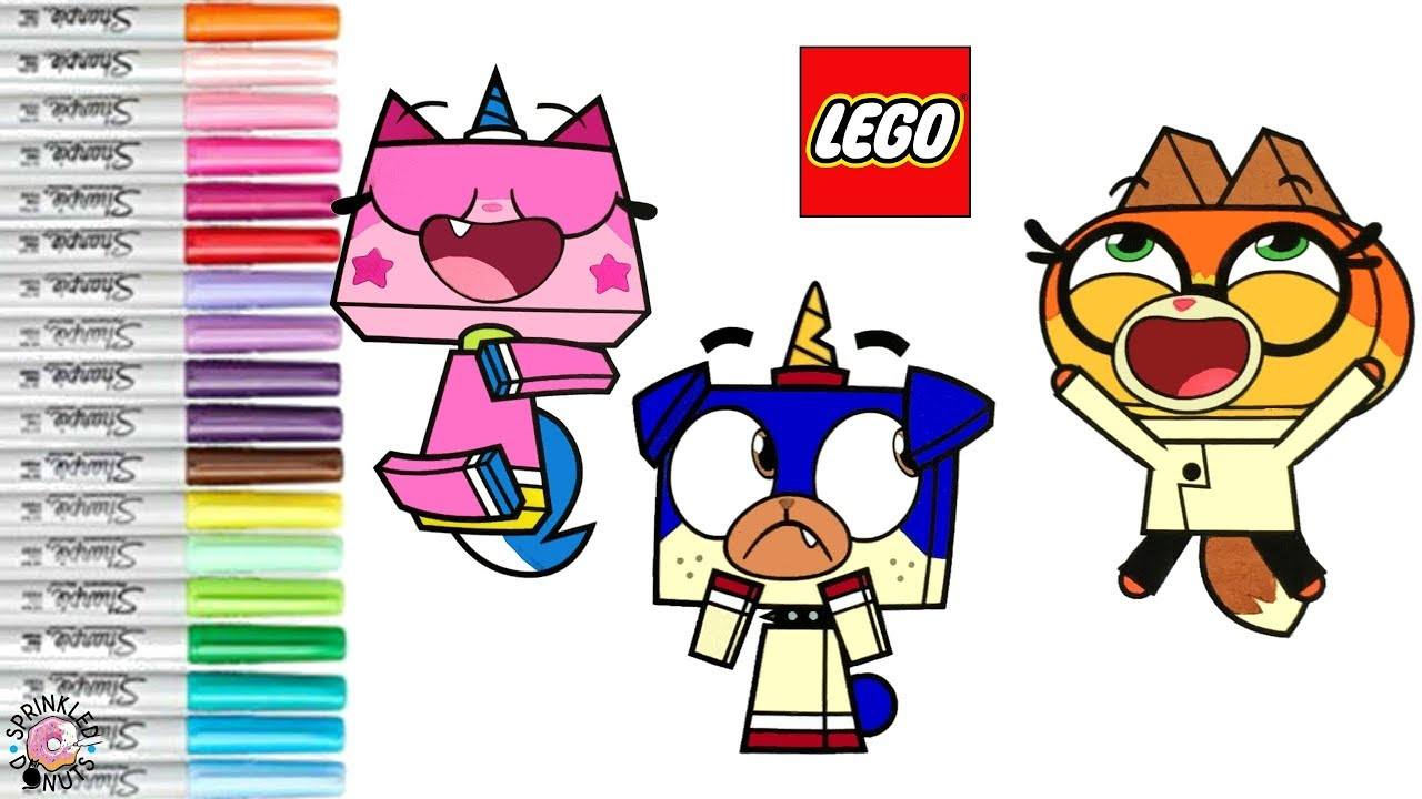 Unikitty Coloring Book Page Dr