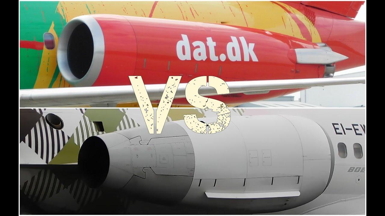 Pratt & Whitney JT8D Vs. Rolls Royce BR-715 Engine Sound Battle ...