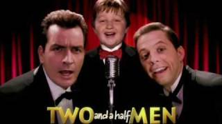 "TWO and a half MEN  theme song  - ""Manly Men"""