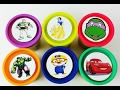 Learn Colors for Kids Play Doh Ice Cream Popsicle Сups Hulk Pororo Mcqueen  Play Foam Surprise Eggs