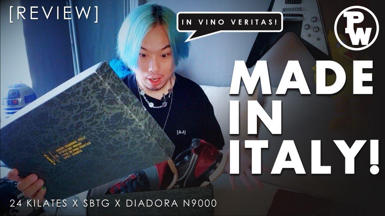 """[รีวิว] 24 Kilates X SBTG X Diadora N9000 """"In Vino Veritas"""" + On Feet"""