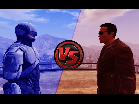 Download Terminator VS Robocop - Epic Battle (GTA 5) Pictures