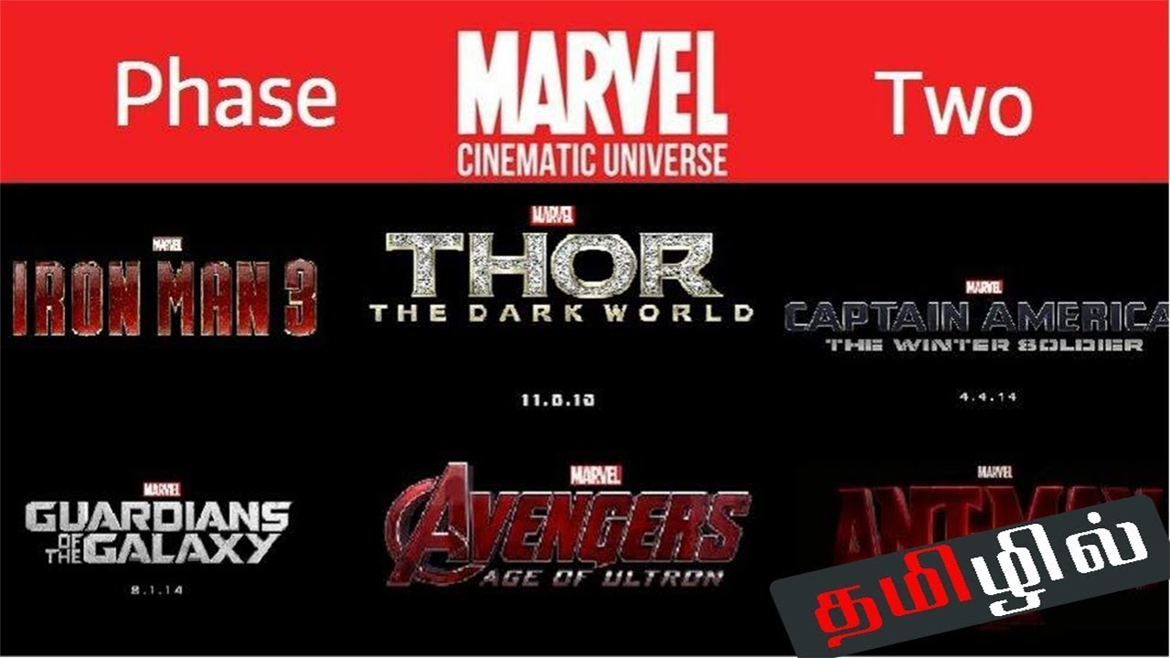 Marvel Cinematic Phase Two Movies Story Explained In Tamil Marvel Timeline Explained In Tamil Youtube
