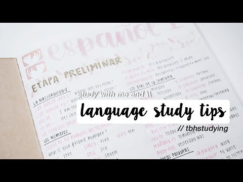 language study tips + study with me