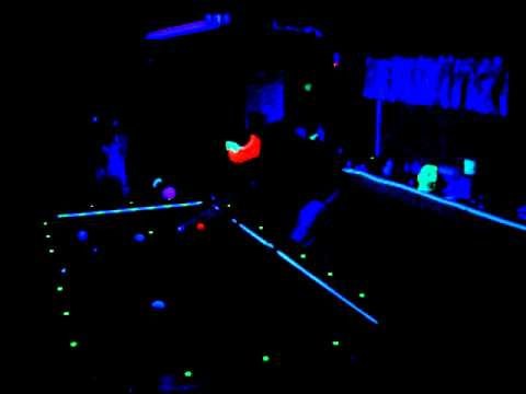 Timelapse glow in the dark pool billiards youtube - Glow in the dark table ...