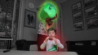 Siram 1 Ember Slime Ke Adikku!!! Prank!