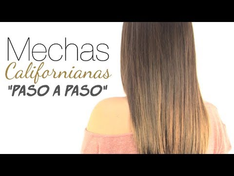 Mechas californianas paso a paso ombre hair youtube - Como hacer mechas californianas en casa ...