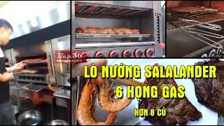 Lò nướng gas Salamander 6 họng giá hủy diệt năm 2020