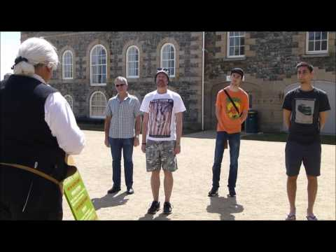 Tour of Elizabeth Castle St Believe Jersey under the guidance of the Drill Sergeant