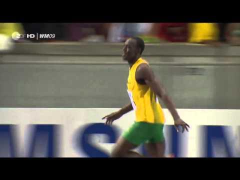 Усэйн Болт 100м за 9,58 мировой рекорд 16.08.2009