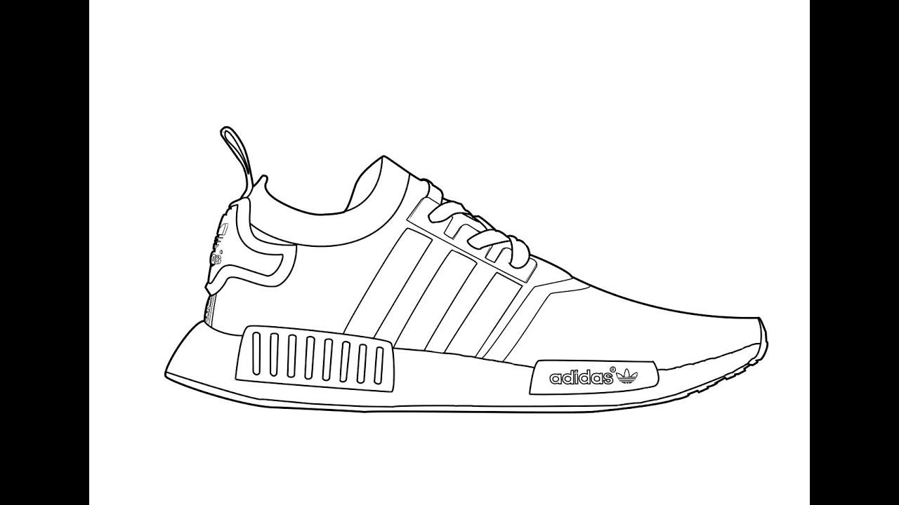Adidas Nmd Line Drawing