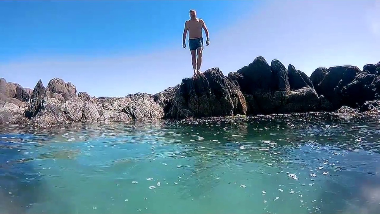 Rock Pool Jump Big Bay Cape Town South Africa Youtube
