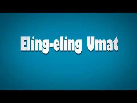 Eling-eling umat - Ebith beat A | Lyrical typography