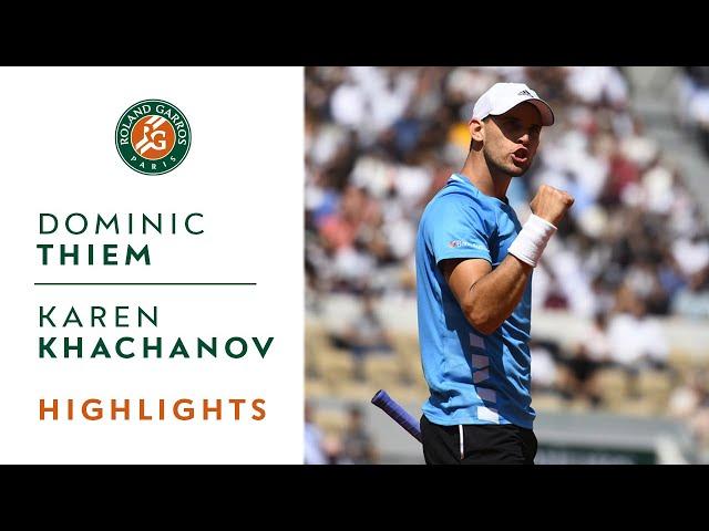 Dominic Thiem vs Karen Khachanov - Quarterfinals Highlights | Roland-Garros 2019
