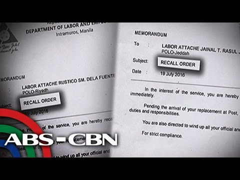 TV Patrol: Labor attache sa Riyadh at Jeddah, sinibak
