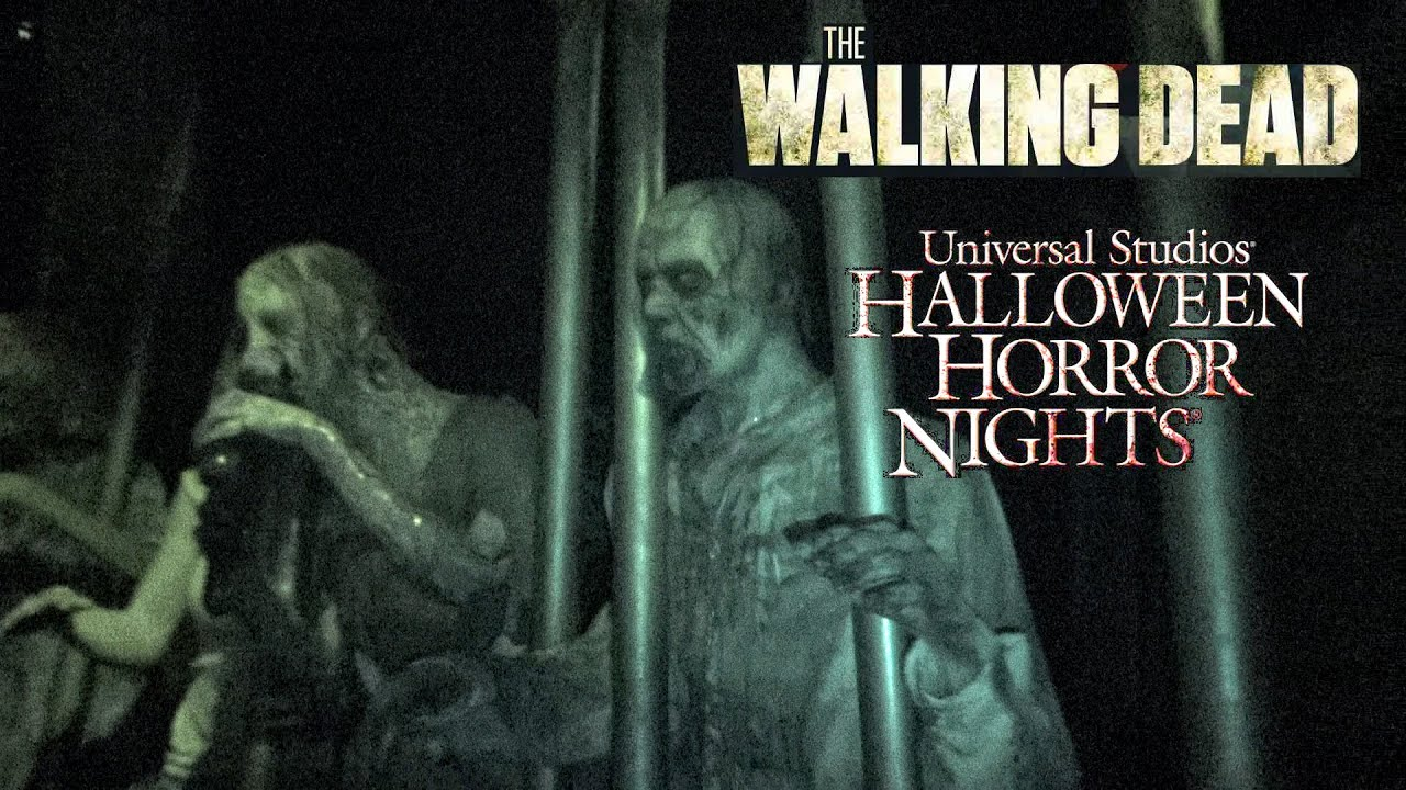 the walking dead haunted house maze walk through halloween horror nights universal hollywood 2015