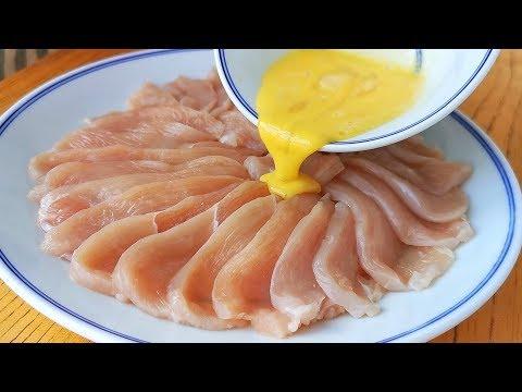 雞胸肉這樣做,孩子最喜歡,不用炒不油炸,鮮嫩營養,上桌就掃光【小穎美食】
