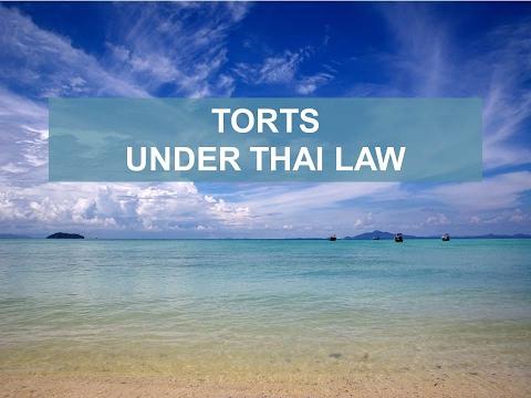TORTS UNDER THAI LAW