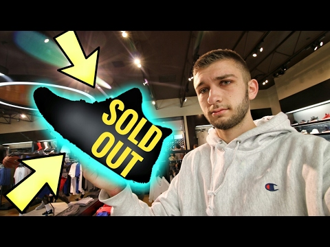 OMG!!! SOLD OUT SNEAKERS SITTING AT THE MALL