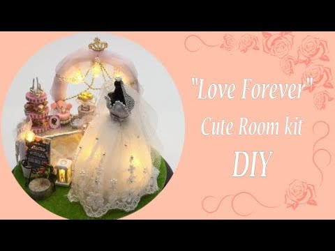 Dollhouse miniature kit- CuteRoom- Love Forever- DIY