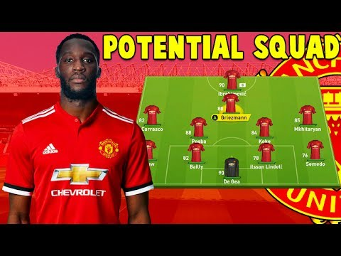 6a08b71de MANCHESTER UNITED POTENTIAL SQUAD 2017 2018 - YouTube