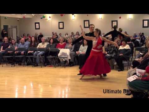 American-Style Tango Show Dance At Ultimate Ballroom Dance Studio In Memphis