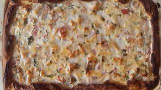 Рыбный пирог. Открытый рыбный пирог, с лососем.  tart  fish pie, salmon.