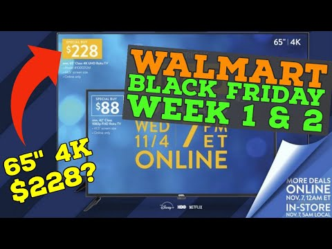 Walmart Black Friday Deals Week 1 2 11 4 And 11 11 Youtube