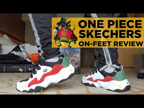 ONE PIECE X SKECHERS D'LITES UNBOXING & ON-FEET REVIEW!!!