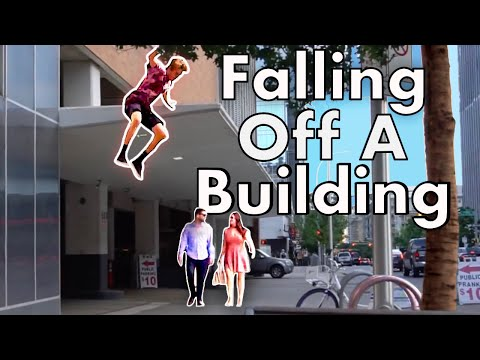 Falling Off Of Building Prank!