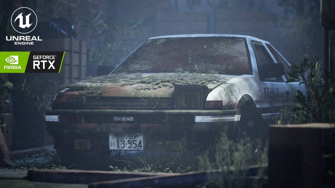 Download Takumi's Abandoned AE86 - Initial D // Unreal Engine 4 (RTX)