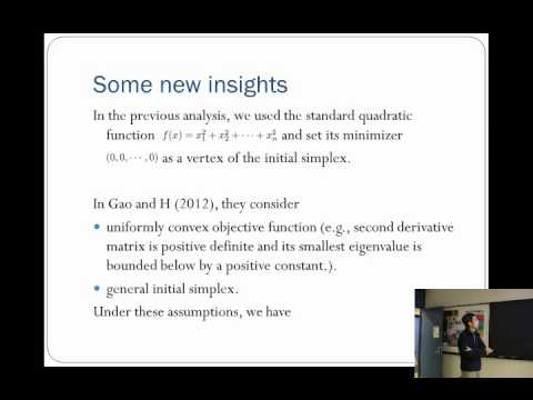 The Nelder Mead Simplex Algorithm  Effect of Dimensionality and New Implementation - Lixing Han