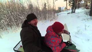 Трейлер теста снегоскутер Турист !