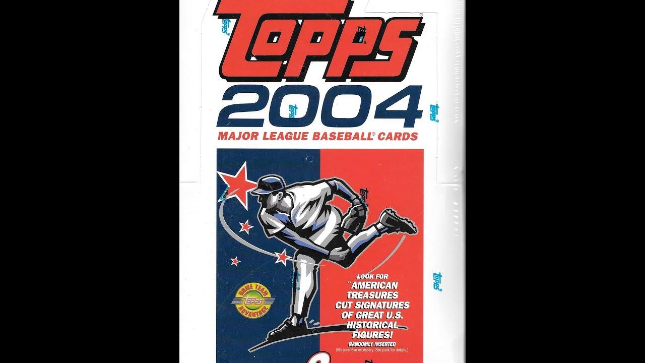 2004 Topps Baseball Series 2 Jumbo Hobby Box Break