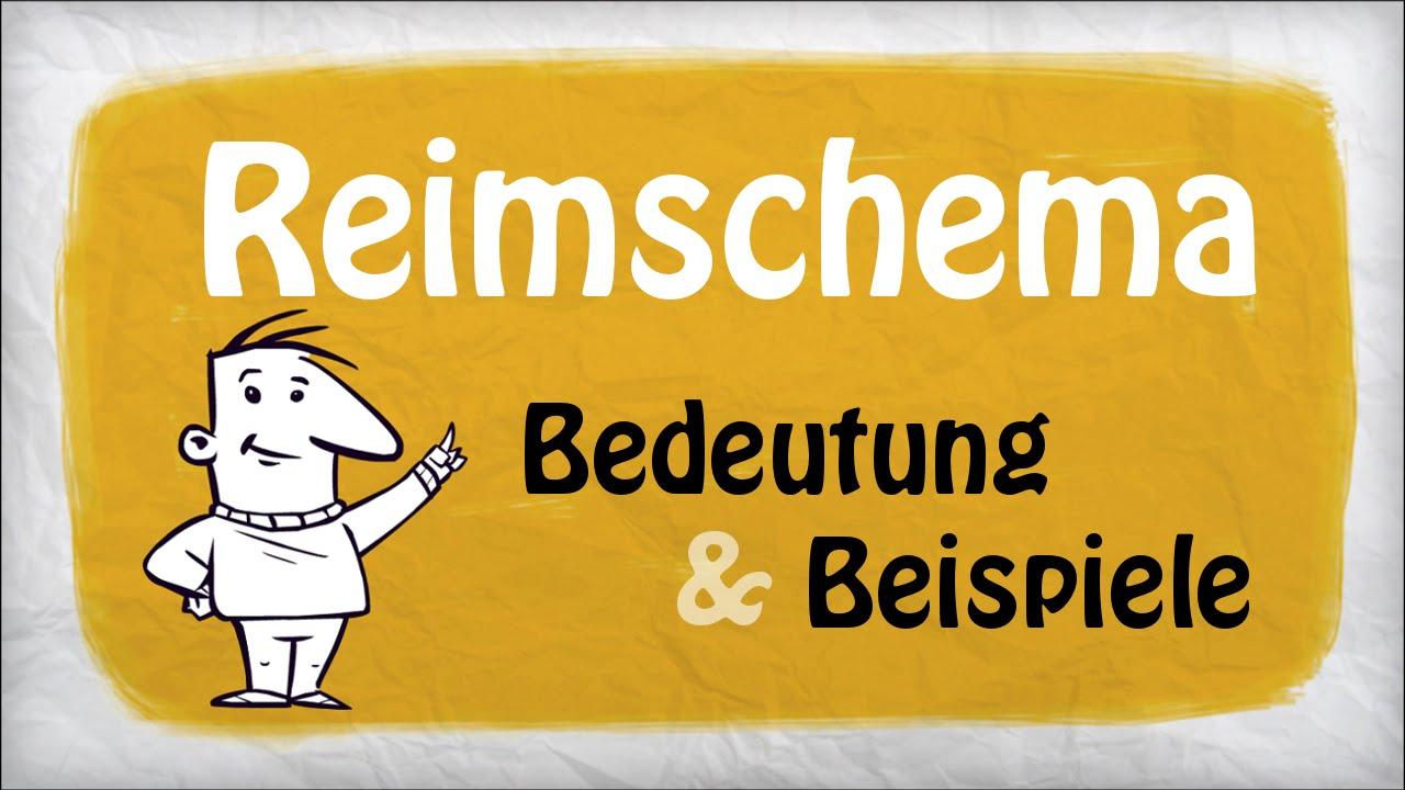 Reimschema Deutsch Beispiele Bedeutung Youtube