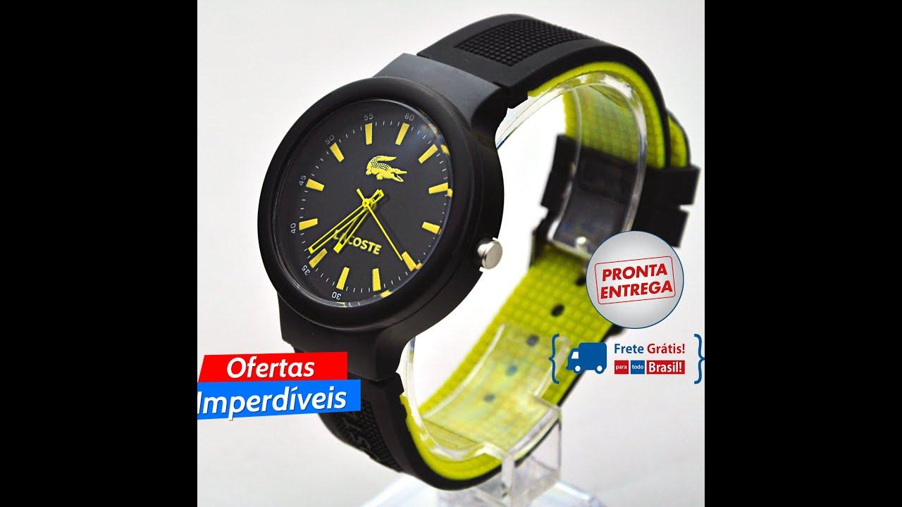 b53dc3f1b5a Vendo Relógio Lacoste Silicone quartz unisex Amarelo moda