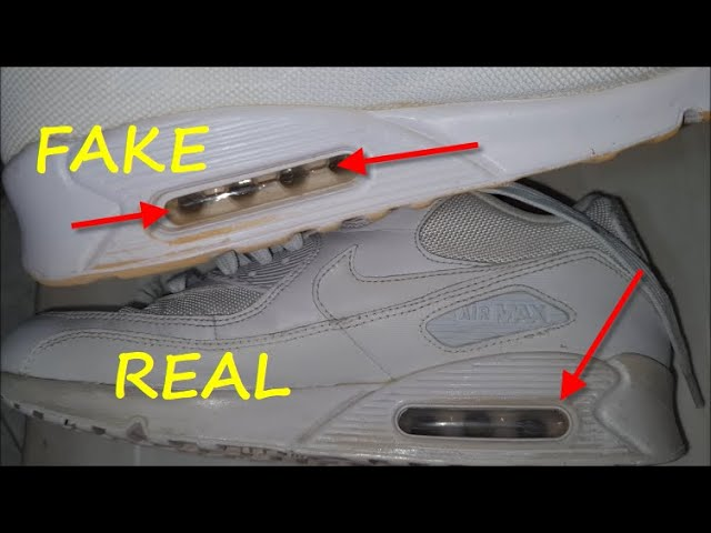 Nike Air Max 90 white sneakers real vs fake review. How to spot ...