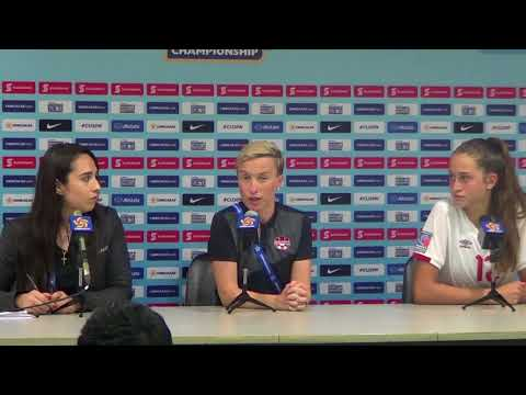 Canada's Bev Priestman and Jordan Huitema at Post-Match Press Conference