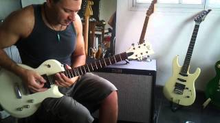 Guitarra Les Paul LTD de ESP EC-50 +Fender Hot Rod Deville por Ariel Locurcio