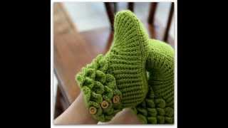 Repeat youtube video Crocodile Stitch Boots Adult Sizes Crochet Pattern Presentation