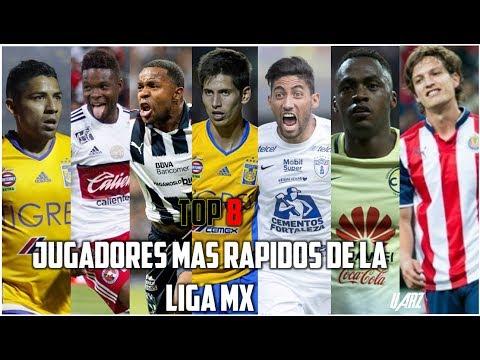 TOP 8 Jugadores Más Rápidos De La Liga MX 2017   HD