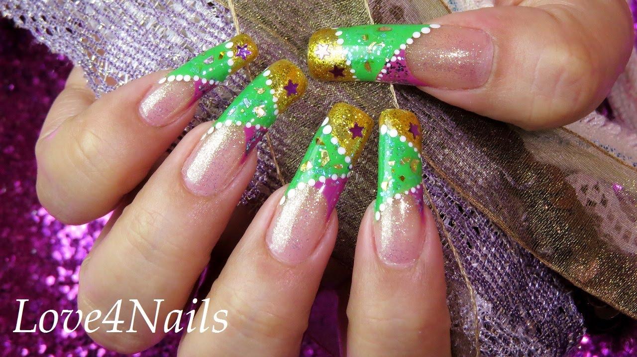 Bollywood Star Sparkle Inspired Nail Art - YouTube