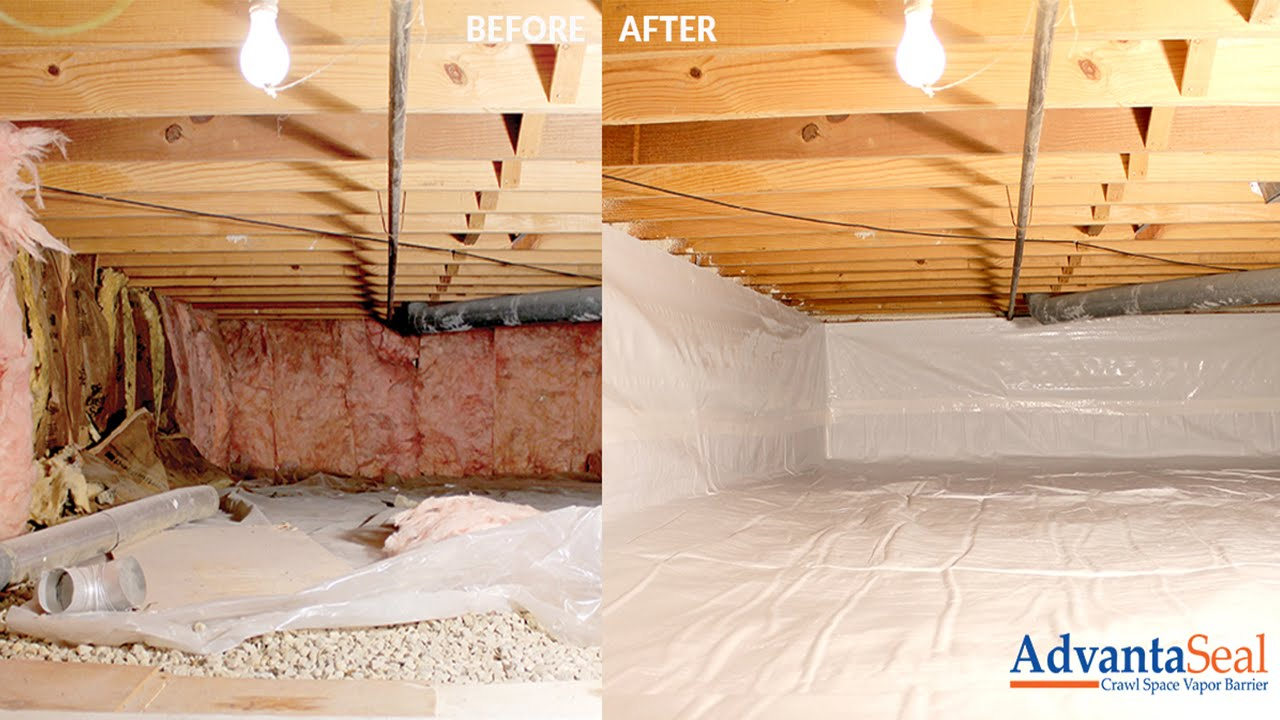 Crawl Space Moisture Control Solution Youtube