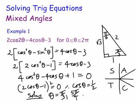 Solving Trigonometric Equations : Mixed angles - YouTube