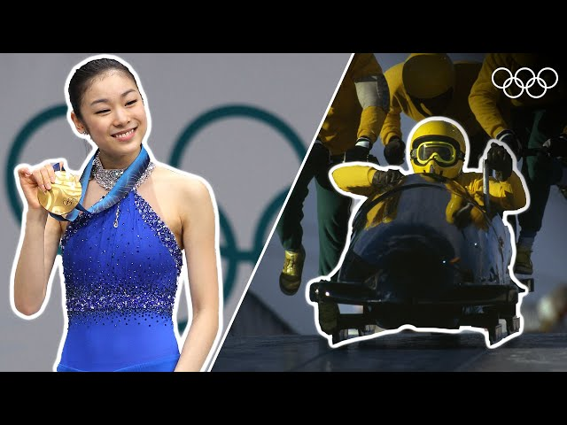 30 iconic Winter Olympic Moments! | Top Moments
