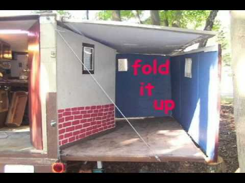Portable House Homemade Camper Rv Bug Out Trailer Youtube