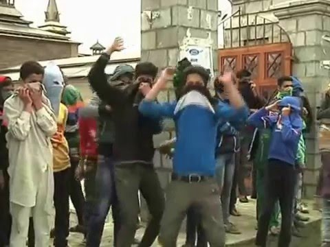 Protests in downtown Srinagar after Friday prayers
